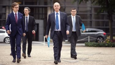 Le ministre de l'Economie Pierre Moscovici, a revu à la hausse la prévision de croissance française pour fin 2013.
