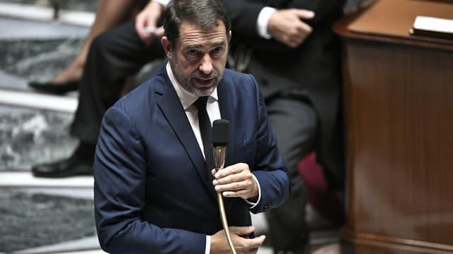 Christophe Castaner à l'Assemblée nationale lors d'une séance de questions-réponses au gouvernement.