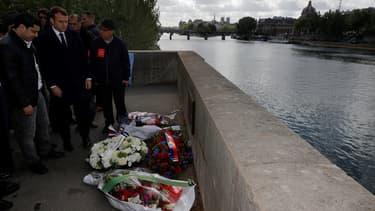 L'hommage d'Emmanuel Macron à Brahim Bouarram, sur les quais de Seine.