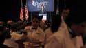 """Discours de Mitt Romney à Salt Lake City, dans l'Utah. Les propos du candidat républicain à la présidentielle américaine, décrivant près de la moitié des Américains comme des """"assistés"""" visant aux crochets de l'Etat, continuaient mardi à peser lourdement"""