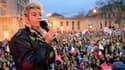 La chef de file du mouvement contre le mariage homosexuel, Frigide Barjot, le 16 avril 2013, lors d'une manifestation.
