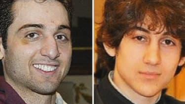 Tamerlan et Djokhar Tsarnaev, les deux auteurs présumés des attentats de Boston le 15 avril 2013.