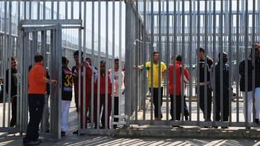 Centre de détention pour immigrants illégaux à Fiumicino en Italie le 24 mars 2011.