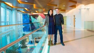 Marck Zuckerberg et son épouse Priscilla