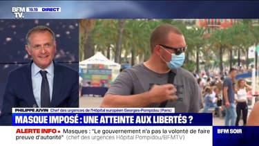 """Philippe Juvin juge """"indispensable de porter le masque"""", car le """"rapport coûts-bénéfices est a priori considérable"""""""