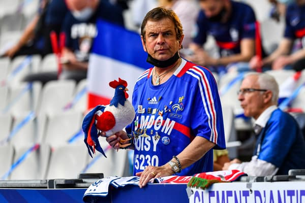 Un supporter de l'équipe de France