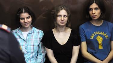 Maria Alekhina, au centre, a entamé une grève de la faim mercredi.