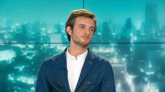 Andréa Kotarac, élu d'Auvergne-Rhône-Alpes sur le plateau de BFMTV.