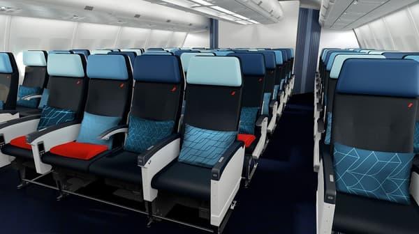 Le nouveau siège en classe économique bénéficiera d'une inclinaison légèrement supérieure à celle de la dernière génération équipant les Boeing 777 déjà réaménagés.