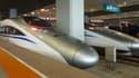 Motrices de trains à grande vitesse chinois. (illustration)