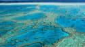 La Grande Barrière de corail est le plus grand récif corallien du monde et se situe au niveau de la mer de Corail, au large de l'Etat du Queensland, en Australie.