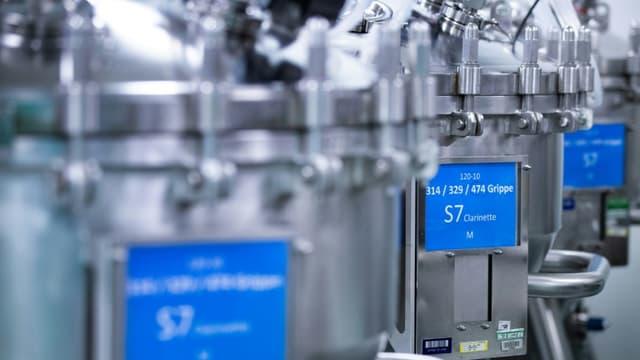L'usine de vaccins de Sanofi au Val-de-Reuil, le 10 juillet 2020, en France
