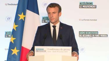 Emmanuel Macron le 10 octobre à Lyon
