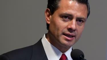 """Enrique Peña Nieto, président du Mexique. Son gouvernement appelle ses ressortissants vivant aux Etats-Unis à rester """"calmes"""", après l'élection de Donald Trump."""