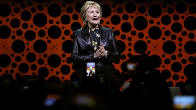 Hillary Clinton, le 28 mars 2017, lors de la Conférence annuelle des femmes entrepreneuses, à San Francisco.