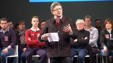 Jean-Luc Mélenchon, en meeting de campagne à Tourcoing ce dimanche.