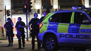 La police, mobilisée le 3 juin 2017, lors des attaques perpétrées à Londres.
