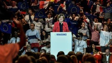 Nathalie Loiseau en meeting à Aubervilliers, le 30 mars 2019