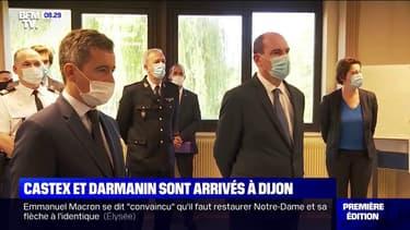 Jean Castex et Gérald Darmanin sont arrivés à Dijon