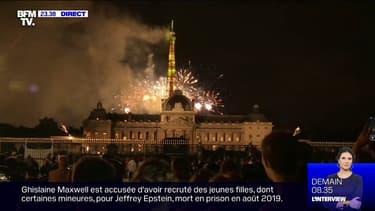 Revivez le bouquet final du feu d'artifice de Paris, filmé depuis l'École militaire