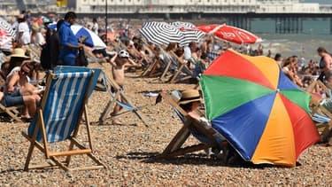 Une plage de Brighton, au sud du Royaume-Uni, le 24 juillet dernier.