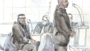 Antoine Q. et Nicolas R, lors de leur procès aux Assises de Paris le 14 janvier 2019.