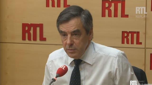 François Fillon sur le plateau de RTL, jeudi 25 juin 2015.