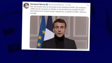 Emmanuel Macron le 23 janvier 2021