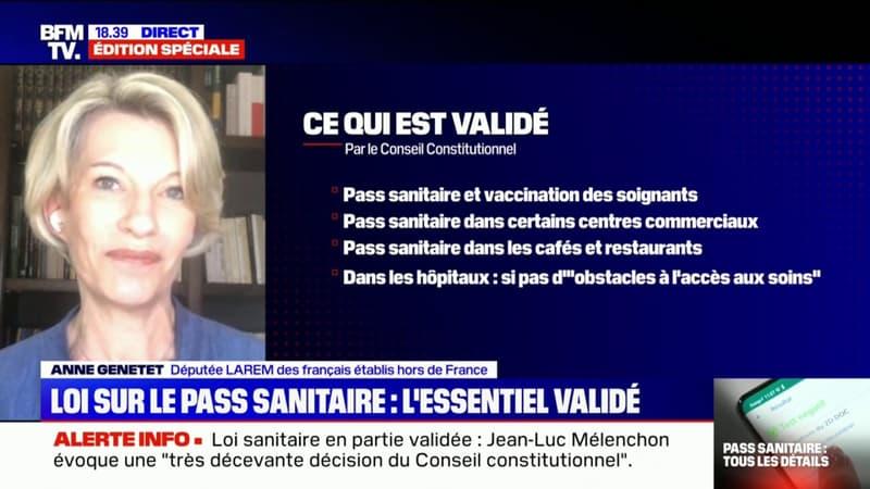 """Anne Genetet sur la loi sanitaire: """"Je ne crois en aucun cas que nos libertés ont été atteintes"""""""
