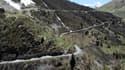 La descente du col de Sarenne