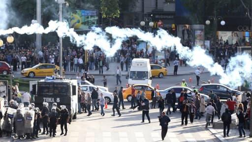 Des manifestations à Ankara jeudi 15 mai