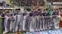 L'hommage des joueurs de la Fiorentina à leur ancien capitaine Davide Astori