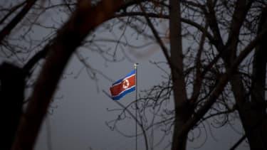 Un drapeau nord-coréen (photo d'illustration)