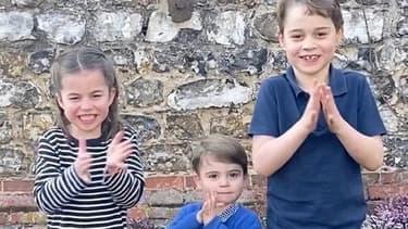 Charlotte, Louis et George rendent hommage au personnel soignant