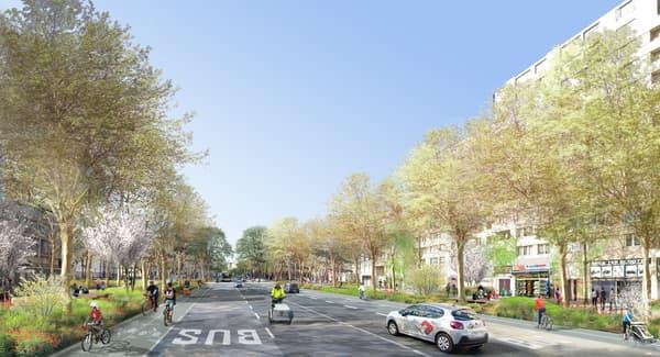 La future rue de la Chapelle, projection