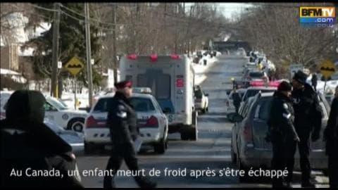 Canada: un enfant de 3 ans meurt de froid après s'être échappé