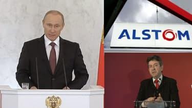 Vladimir Poutine, Alstom et Jean-Luc Mélenchon au coeur de l'actualité du jour.