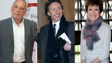Français Berléand, Stéphane Bern et Catherine Laborde font partie des personnalités invités à l'Hôtel de Ville de Paris après la passation de pouvoir d'Emmanuel Macron, le 14 mai 2017