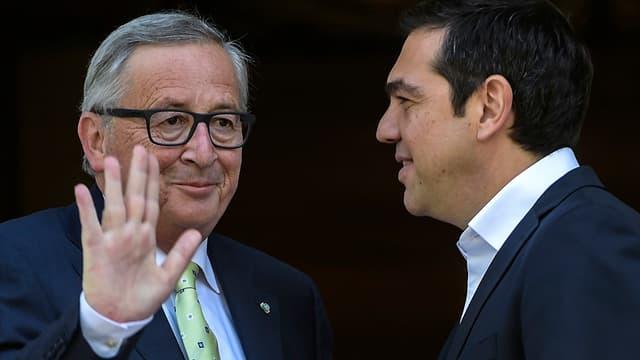 Jean-Claude Juncker a loué la performance de l'économie grecque.