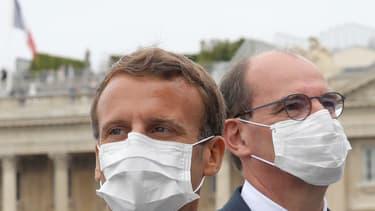 Emmanuel Macron et Jean Castex le 14 juillet 2020.