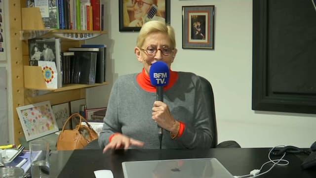 Isabelle Balkany, maire par intérim de Levallois-Perret dans son bureau ce mardi soir.