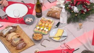 Simulation d'un repas de Noël sur BFMTV en période de Covid