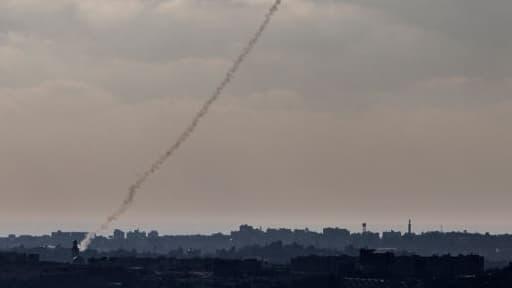 Une roquette tirée depuis Gaza vers Israël, mardi 8 juillet 2014. Image d'illustration.