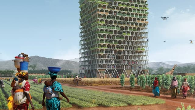 Ce gratte-ciel sera un centre éducatif et un lieu de commerce.