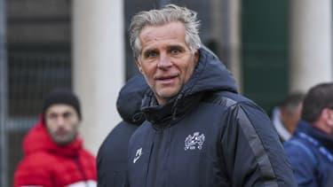 Pascal Bovis, président du FC Fleury, le 13 janvier 2019
