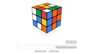 Le doodle du jour permet de jouer au Rubik's Cube, pour fêter les 40 ans du casse-tête.