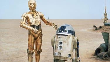 """C3PO et R2D2 dans """"Star Wars""""."""