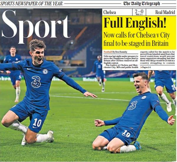 Le cahier Sport du Telegraph