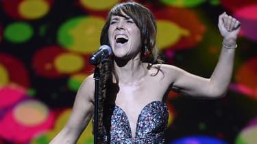 La chanteuse Zaz aux Victoires de la musique, en février 2014.