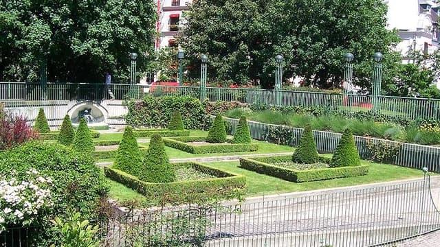 Le jardin des Halles, en 2009